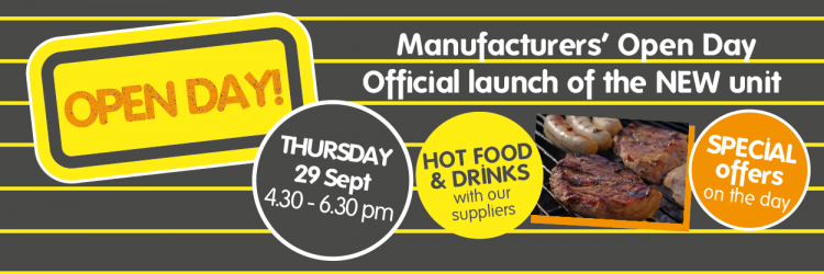 Manufacturers' Open Day 29 September