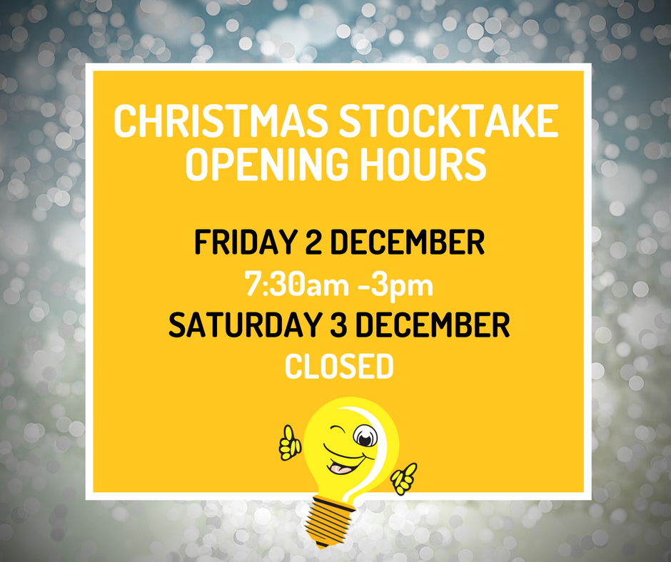 G2 Electrical stock take opening hours