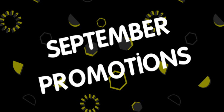 September 2017 Product Promotions