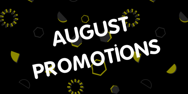 August 2017 Product Promotions