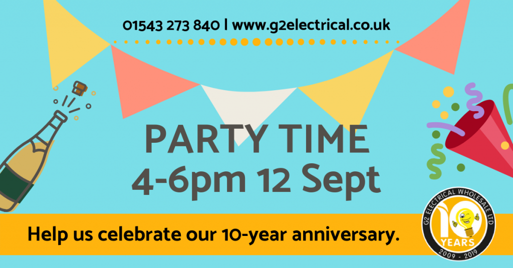 G2 Electrical Wholesale 10-Year Anniversary