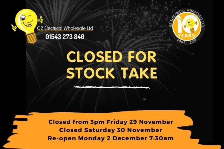 Stocktake Announcement